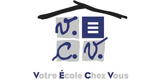 """Logo """"Votre école chez vous"""""""