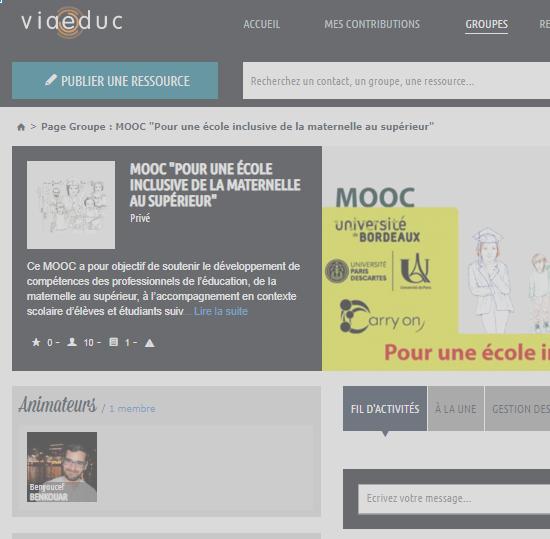 La photo présente une capture d'écran du site Viaeduc.